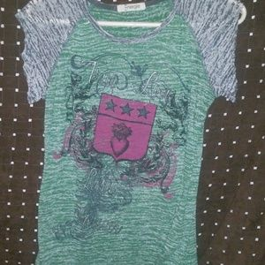 vintage rocker washed out baseball t shirt